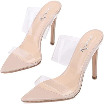 vivianly Women's Clear High Heels