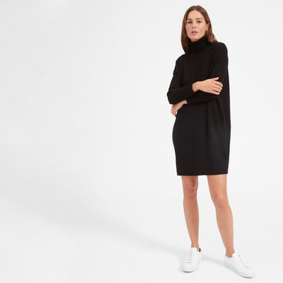 The Cashmere Turtleneck Dress