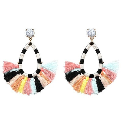 Fifata Women's Beaded Tassel Earrings