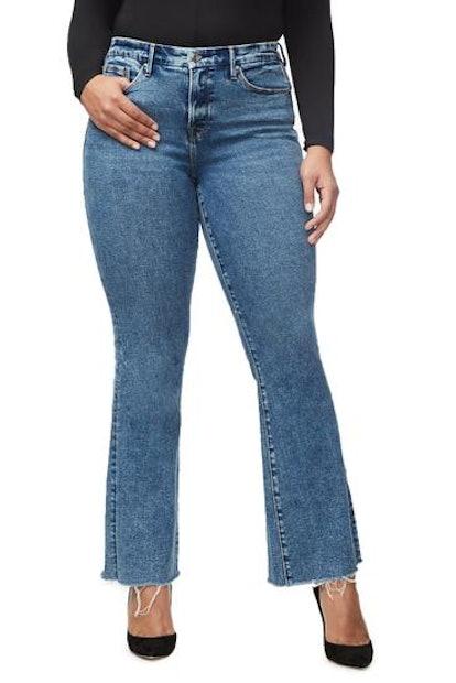Good Flare Fray Hem Jeans