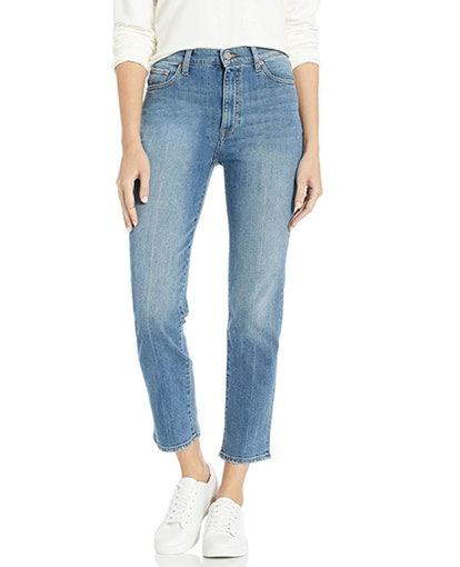 The Drop Women's Manchester High Rise Straight Fit Ankle Jean