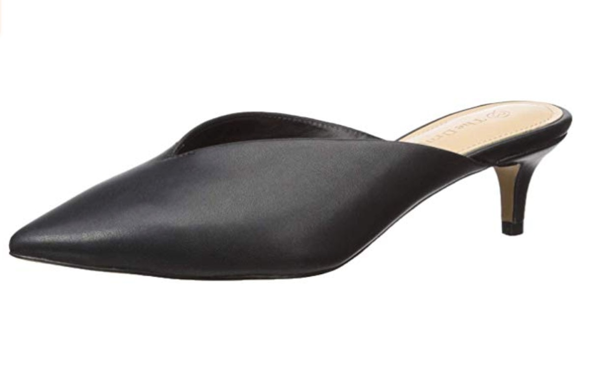 The Drop Women's Valencia Pointed Toe Mule Heeled Sandal