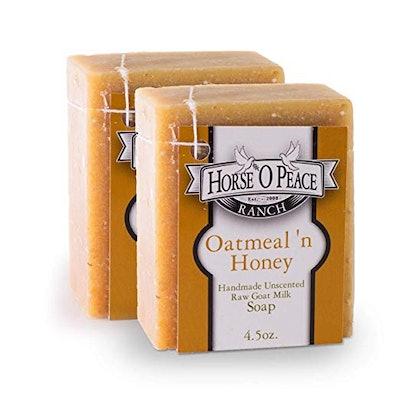 Horse O Peace Ranch Oatmeal 'n Honey Goat Milk Soap, 4.5 Oz. (2-pack)