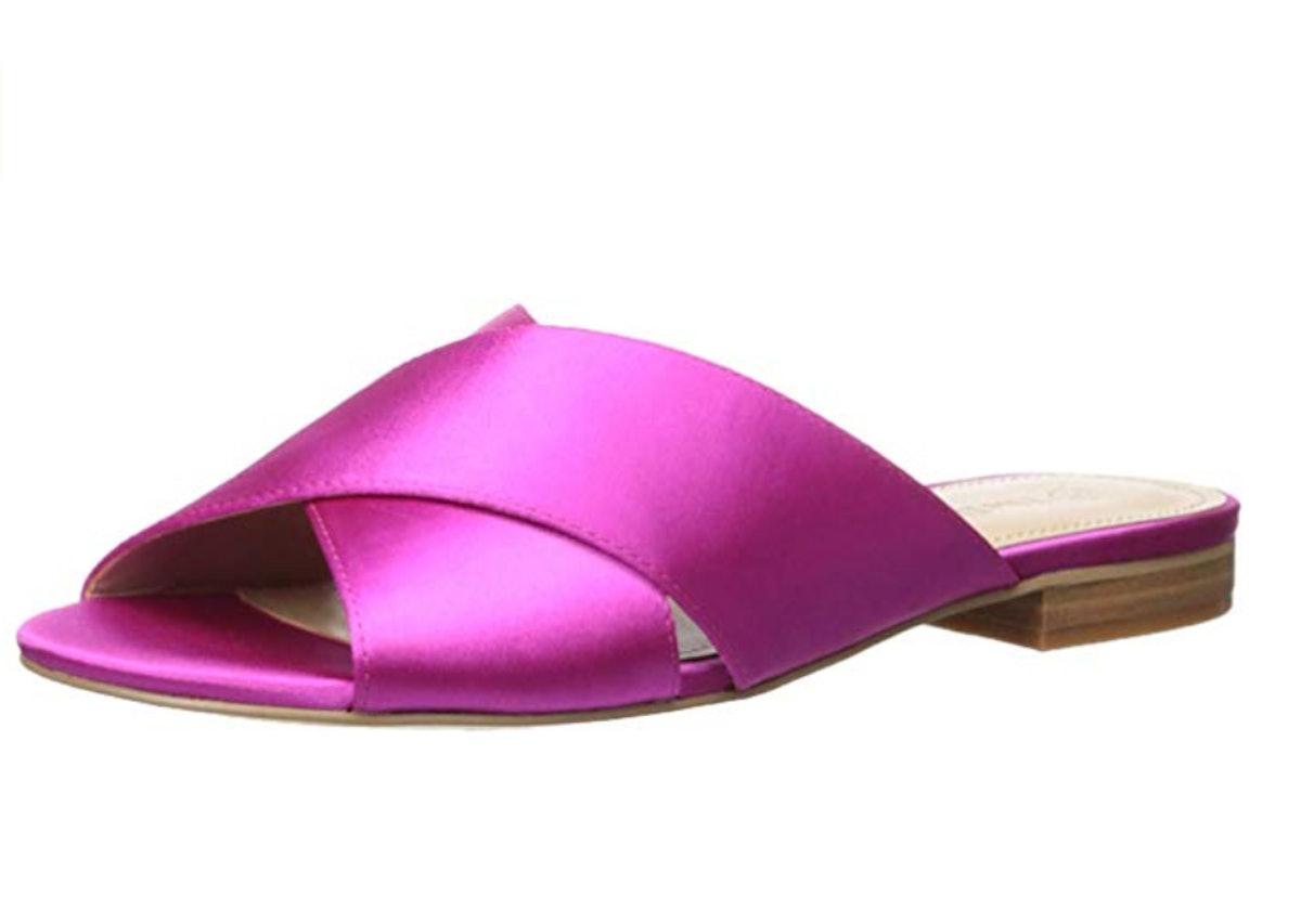 The Drop Women's Bristol Cross Strap Flat Sandal