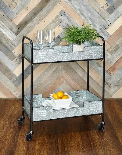 Linon Denver Iron Indoor/Outdoor Bar Cart