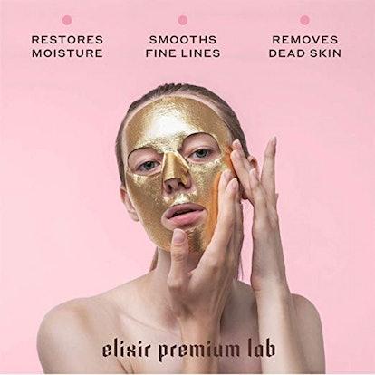Elixir Cosmetics 24K Gold Korean Collagen Face Mask