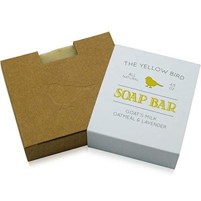 Yellow Bird Lavender and Oatmeal Goat Milk Soap, 4.5 Oz.