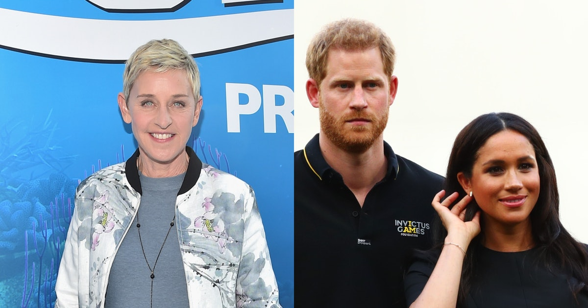Ellen DeGeneres Defended Prince Harry & Meghan Markle After They Were Criticized For Flying Private