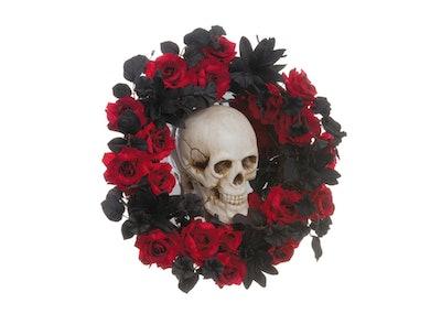 "23"" Skull, Rose & Lily Wreath"