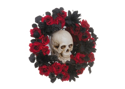"23"" Skull, Rose & Lily Wreath"