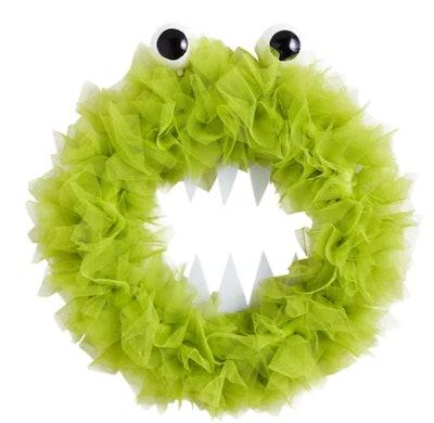"""16"""" Halloween Monster Tulle Wreath"""