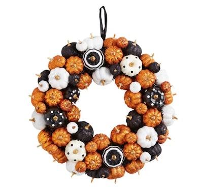 "20"" Multicolor Mini Pumpkins Wreath"