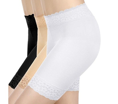 Boao Lace Underwear Yoga Shorts (3-Pack)