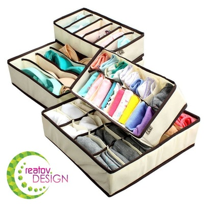 Creatov Design Underwear Sock Drawer Organizer