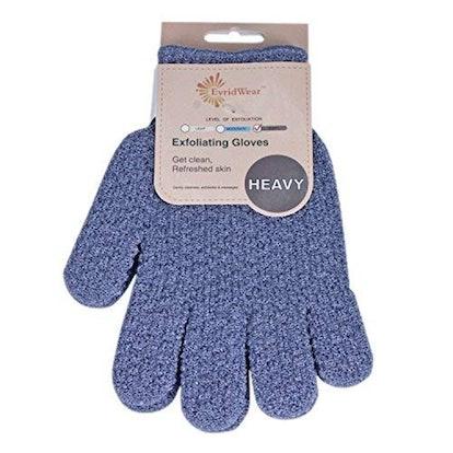 EvridWear Exfoliating Dual Texture Bath Gloves