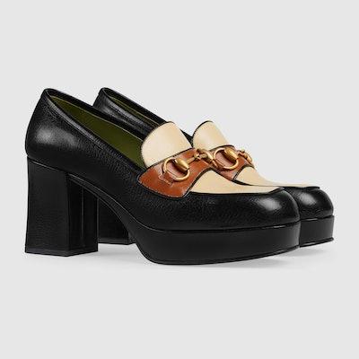 Colorblock Leather Platform Loafer