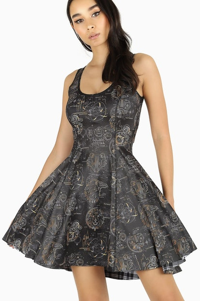 Skip to the beginning of the images gallery TARTAN HOGWARTS VS CELESTIAL MAGIC INSIDE OUT DRESS