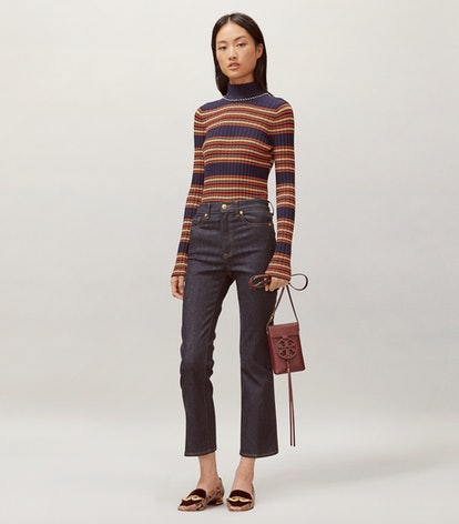 Cropped Boot Cut Jeans