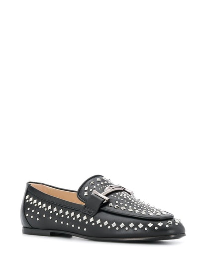 Studded Double T Loafers