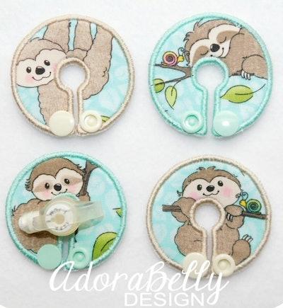 Sloth Baby Tubie Covers (Gtube Pads)