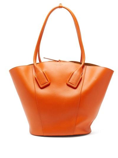 Basket Large Leather Tote Bag
