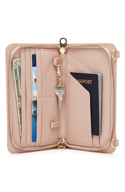 Calpak Faux Leather RFID Travel Wallet