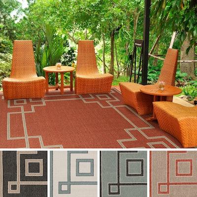 Odette Contemporary Geometric Indoor/ Outdoor Area Rug