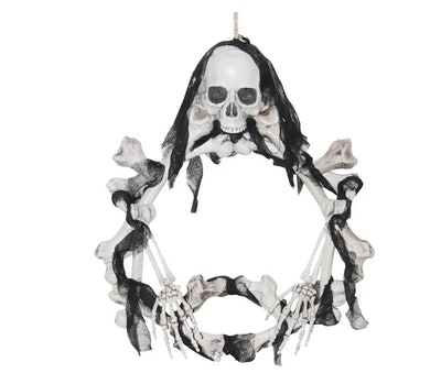 Halloween Wreath Bone LED Light-Up