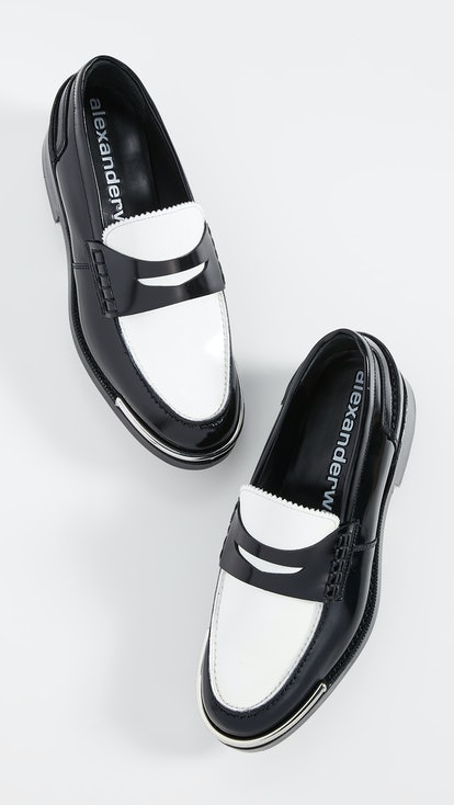 Carter Black and White Loafers