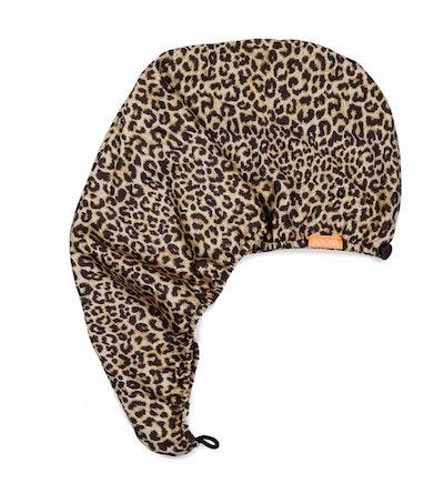 Rapid Dry Leopard Print Turban