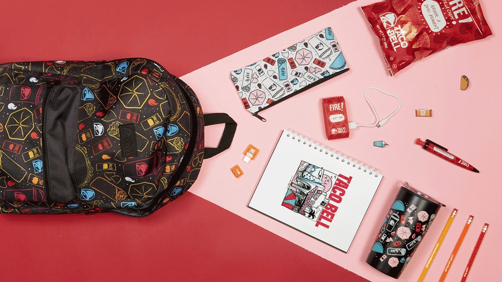 Taco Bell's Back To School 2019 Collection Features Themed