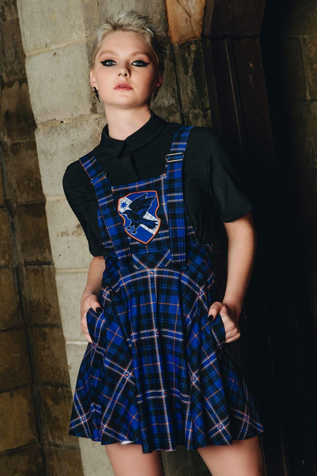 TARTAN RAVENCLAW APRON DRESS