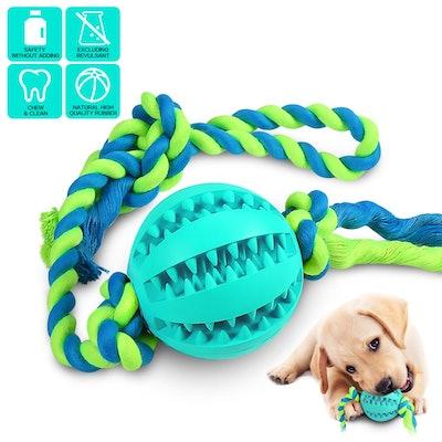 Puzzle Puppy Pals Tough Durable Rubber Pet Ball