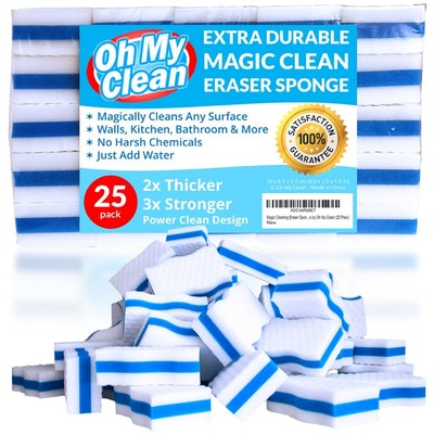 Oh My Clean Magic Cleaning Eraser Sponges (25-Pack)