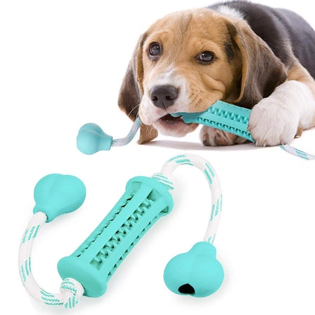 Cotton Rope & Safety Rubber Suitable for Puppies