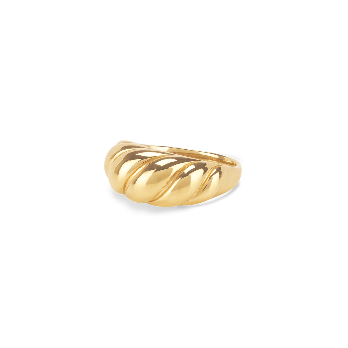 Croissant Dôme Ring in Gold Vermeil
