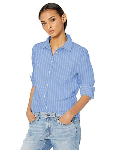 Amazon Essentials Women's Classic-Fit Long-Sleeve Poplin Shirt
