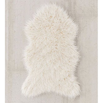 Mazzy Faux Fur Shaped Rug