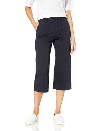 Daily Ritual Women's Washed Chino Wide Leg Crop