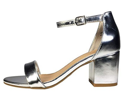 BAMBOO Women's Block Heel Sandal with Ankle Strap