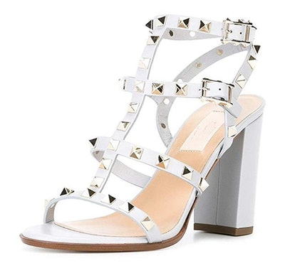 Comfity Studded Strappy Block Heels