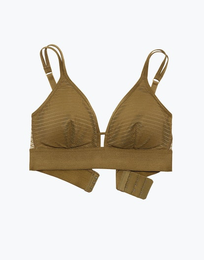 Madewell x Lively™ Stripe-Mesh Busty Bralette