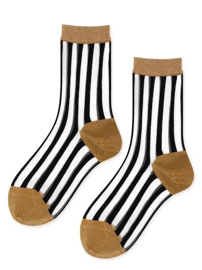 Valerie Sheer Stripe Crew Socks