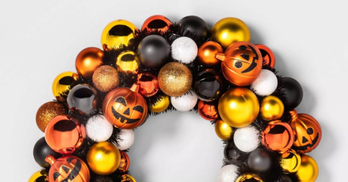 Target's Sold-Out Halloween Wreath Has A Restock Date