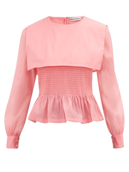 Penny Smocked Organza Top