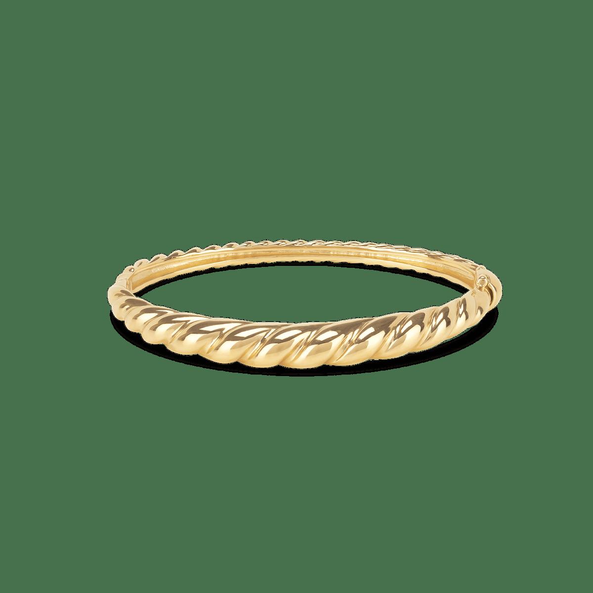 Croissant Dôme Bracelet in Gold Vermeil