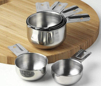 KitchenMade Stainless Steel Measuring Cups (6-Piece)