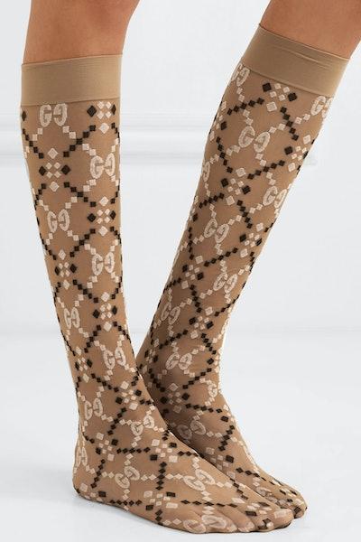 Jacuard Knit Socks