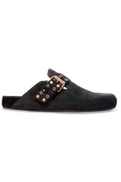 Mirvin Studded Suede Mules