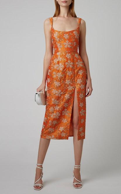 Exclusive Kanara Embroidered Silk Midi Dress